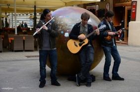 Street musician around teslina