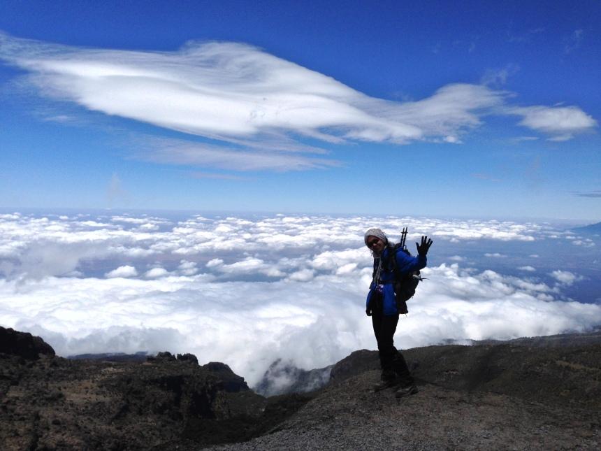 Barranco Duvari'ni astiktan sonra (4200 mt)