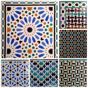 Geometrik desenler -Alcázar of Seville
