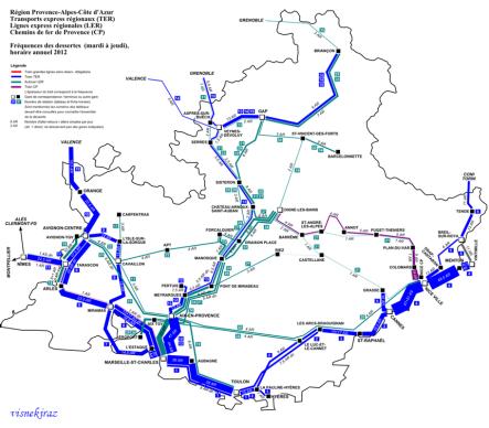 Provence toplu taşıma ağı